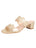 Womens Gold Palm Beach Scalloped Sandal