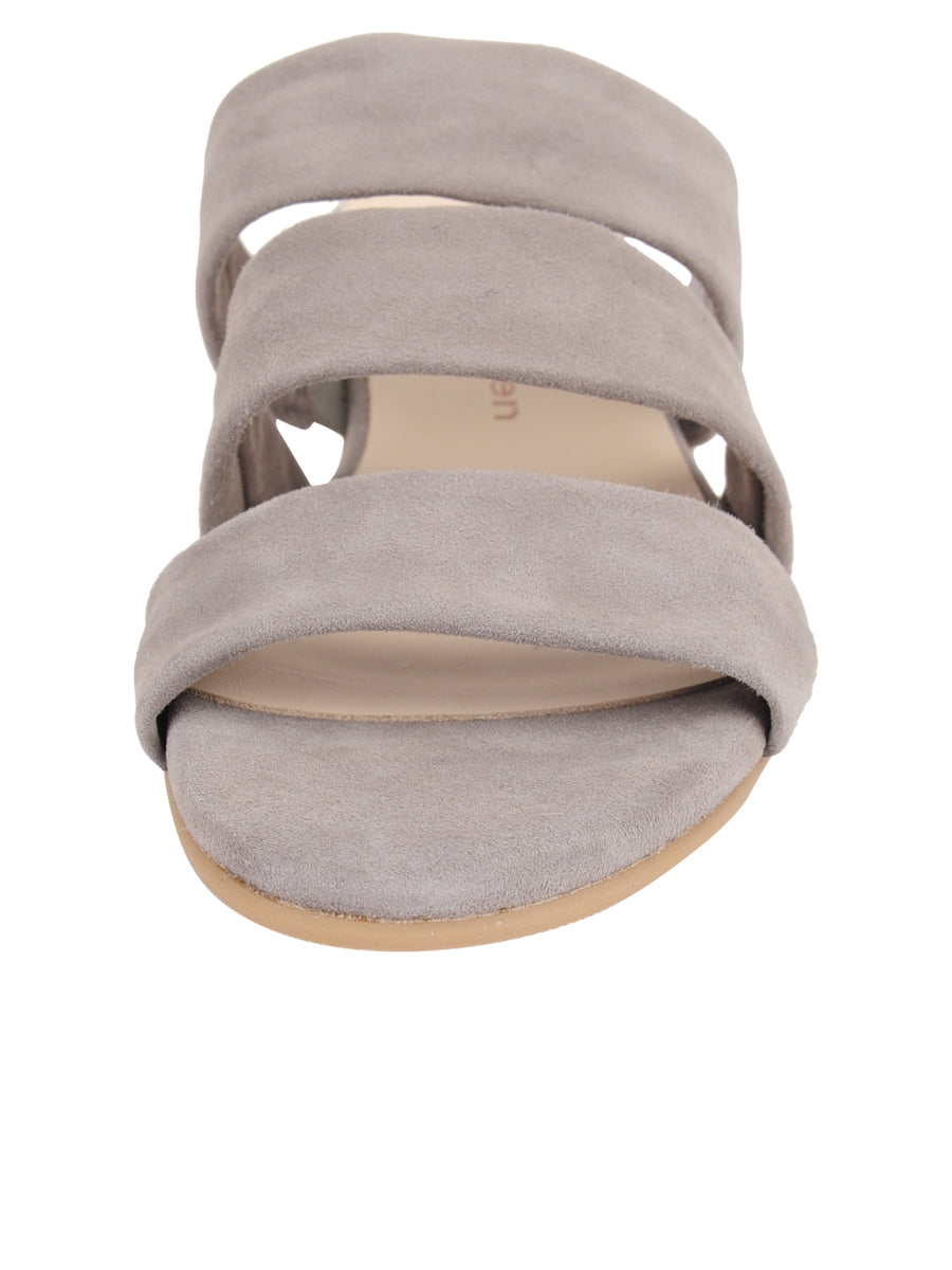 Womens Grey Josee Wedge Sandal 4