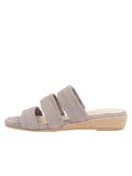 Womens Grey Josee Wedge Sandal 6