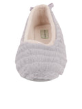 Womens Grey Jane Faux Fur Slipper 2