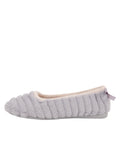 Womens Grey Jane Faux Fur Slipper 6