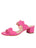 Womens Hot Pink Palm Beach Scalloped Sandal