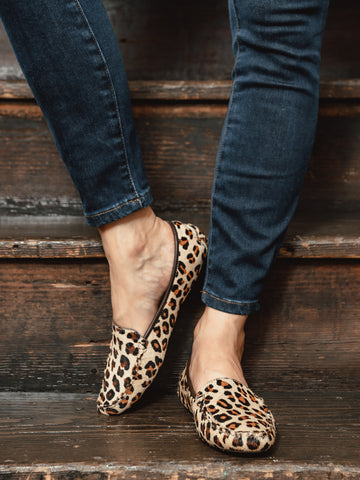 Womens Leopard Haircalf Jillian Driving Moccasin 4 Alternate View