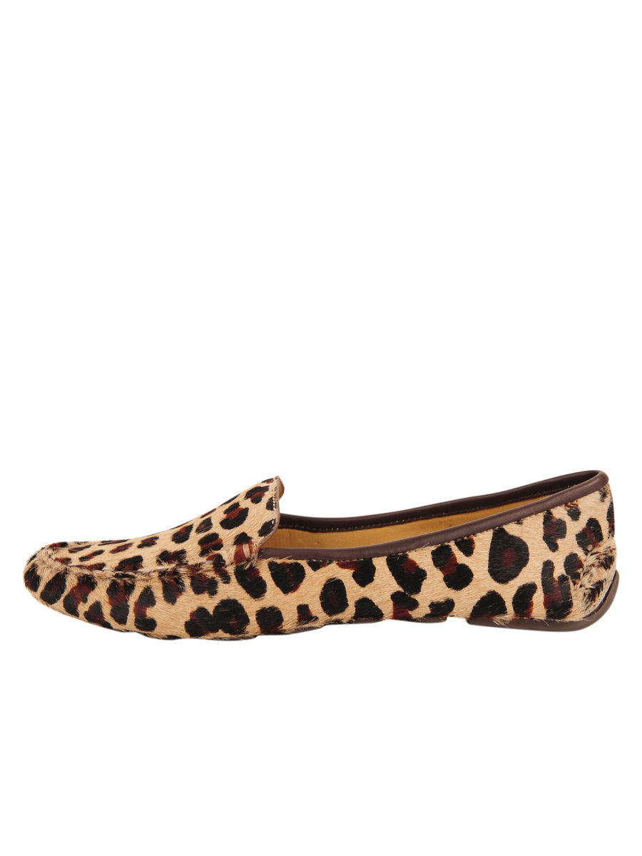 Womens Leopard Haircalf Jillian Driving Moccasin 6