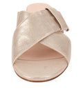 Womens Metallic Gold Origami Kitten Heel Sandal 4