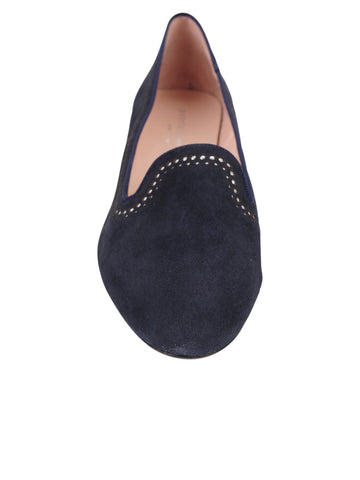 Womens Navy Isabel SMOKING SLIPPER FLAT 4 Alternate View