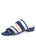 Womens Navy Belle Double Strap Sandal with Mesh