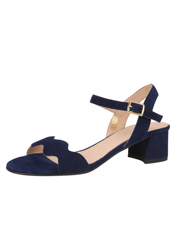 Womens Navy Gina Block Heeled Sandal
