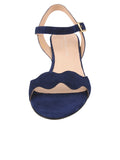 Womens Navy Gina Block Heeled Sandal 4