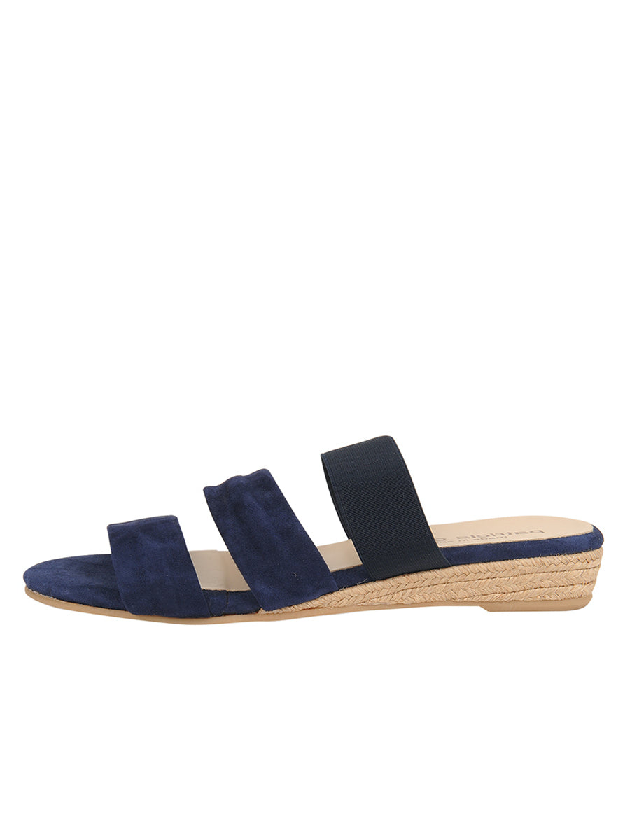 Womens Navy Joanna Wedge Sandal 6