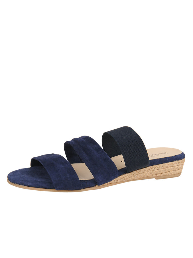 Womens Navy Joanna Wedge Sandal