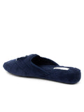 Womens Navy Chloe Microterry Slipper 2