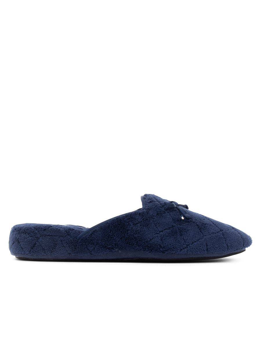 Womens Navy Chloe Microterry Slipper 4