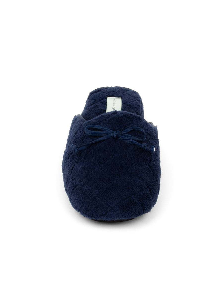 Womens Navy Chloe Microterry Slipper 6