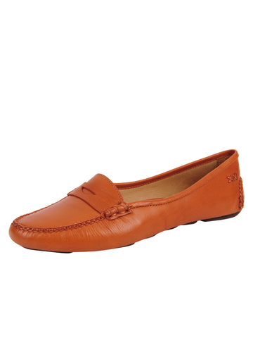 Womens Orange Bristol Penny Loafer