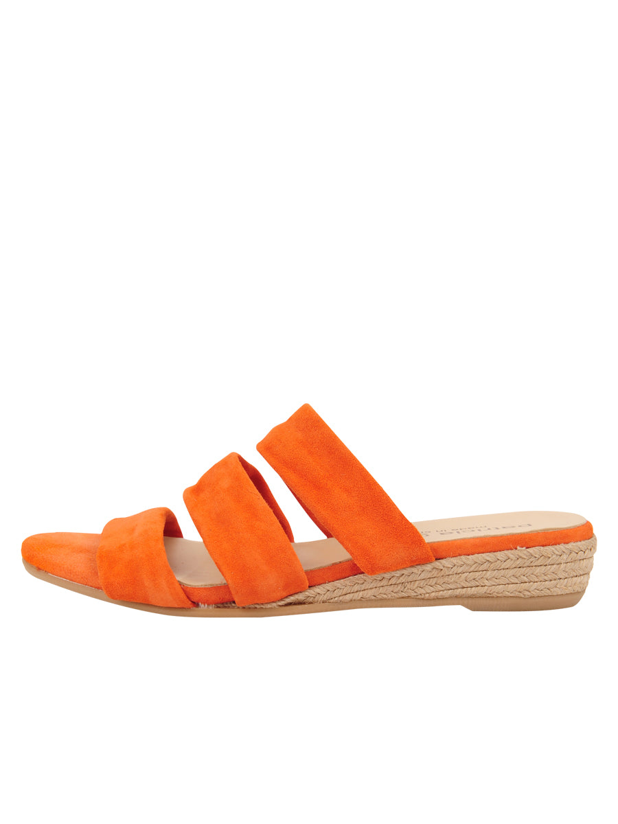 Womens Orange Josee Wedge Sandal 6