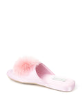Womens Pink Cathy Satin Slipper 2