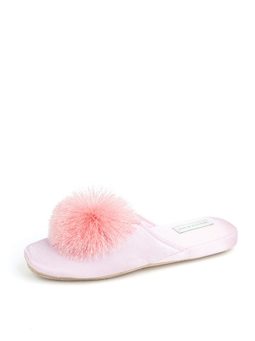 Womens Pink Cathy Satin Slipper
