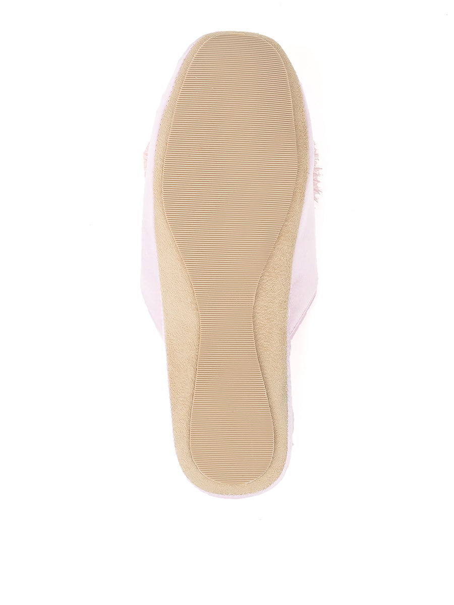 Womens Pink Cathy Satin Slipper 5