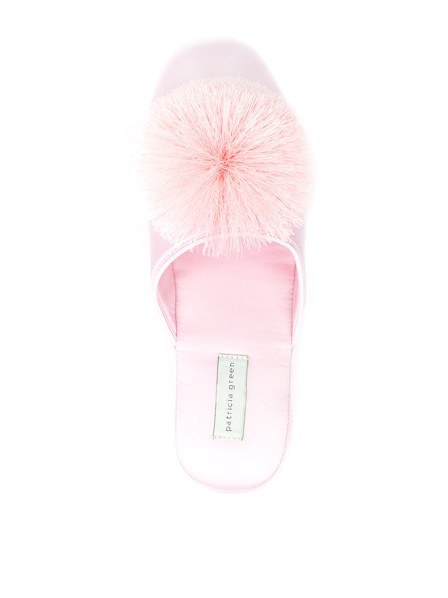 Womens Pink Cathy Satin Slipper 7