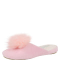Womens Pink Pretty Pouf Slipper