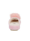 Womens Pink Pretty Pouf Slipper 4