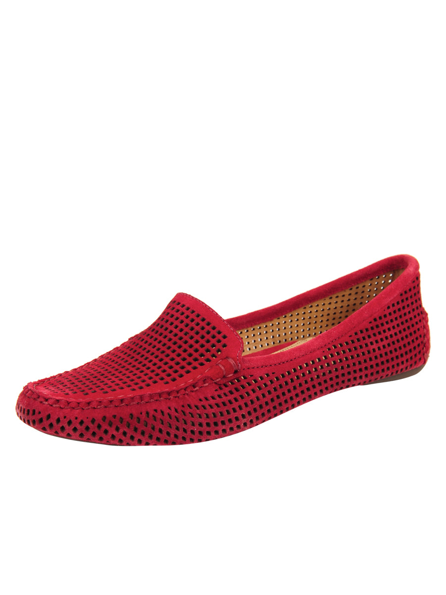 Womens Red Suede Barrie Driving Moccasin