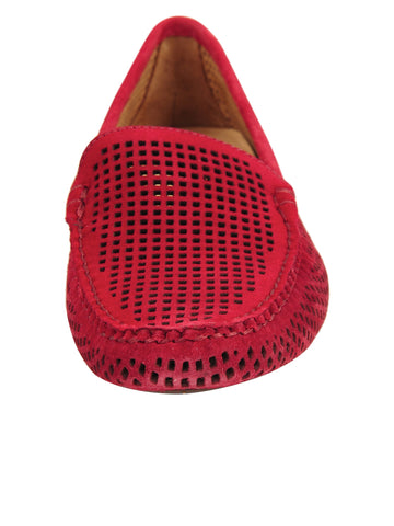 Womens Red Suede Barrie Driving Moccasin 4 Alternate View