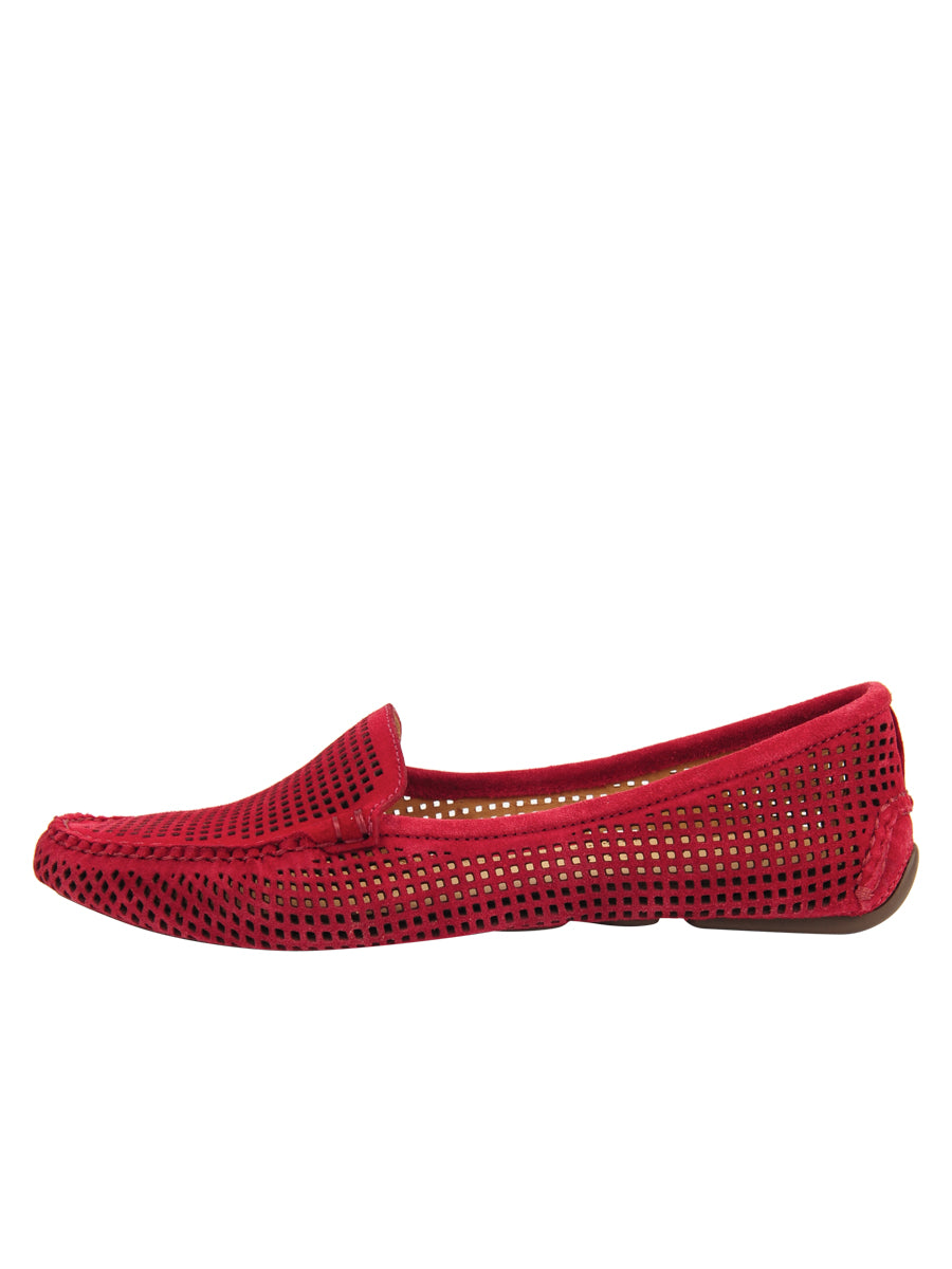 Womens Red Suede Barrie Driving Moccasin 6