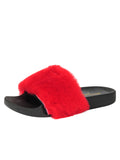 Womens Red Mary Slipper