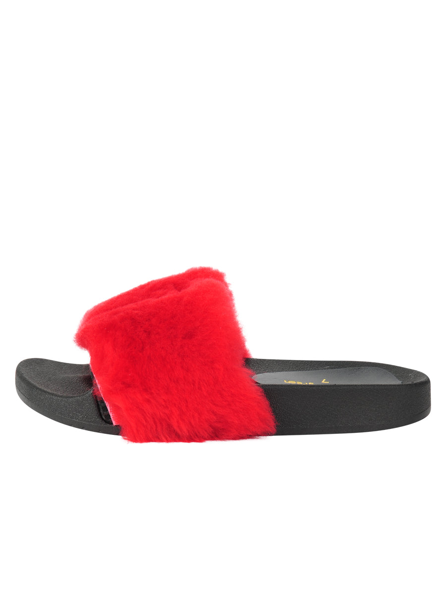 Womens Red Mary Slipper 6