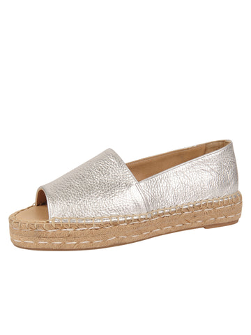 Womens Silver Angie Espadrille