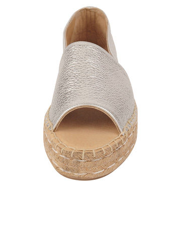 Womens Silver Angie Espadrille 4 Alternate View