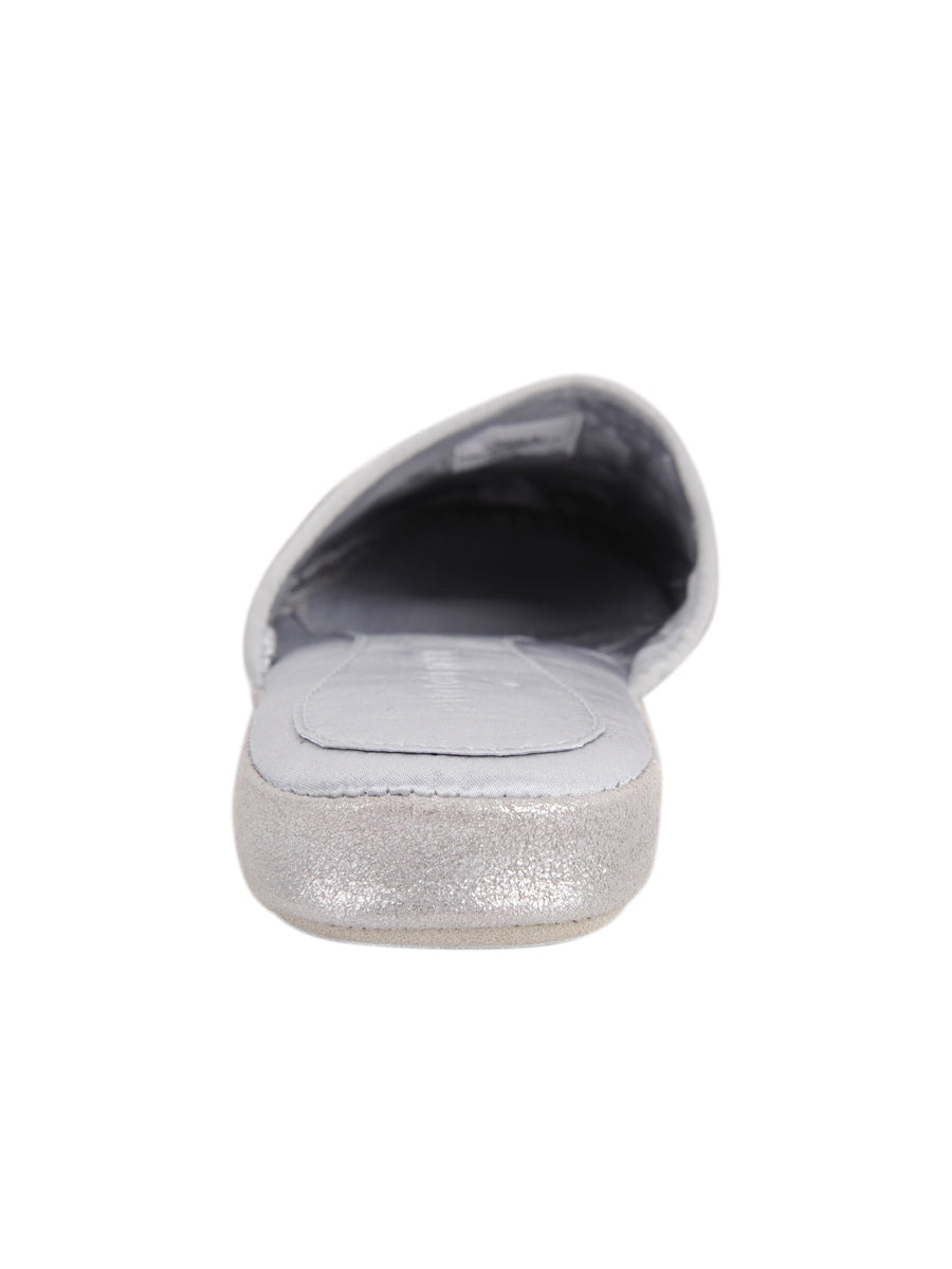 Womens Silver Coco Slipper 4