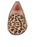 Womens Tan Leopard Waverly Smoking Slipper Flat 2
