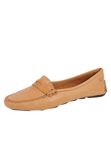 Womens Tan Bristol Penny Loafer