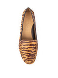 Womens Tan & Brown Tiger Haircalf Jillian Driving Moccasin 7