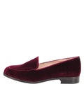 Womens Wine London Velvet Loafer 7