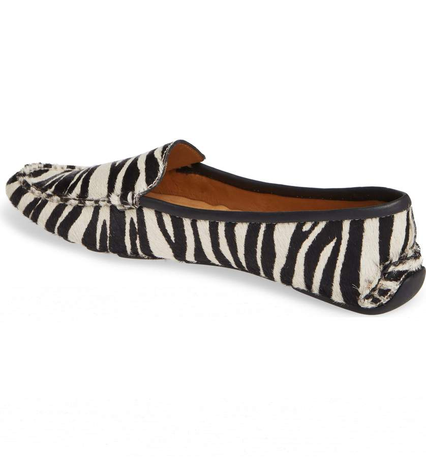 Womens Zebra Haircalf Jillian Driving Moccasin 2