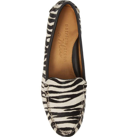 Womens Zebra Haircalf Jillian Driving Moccasin 4 Alternate View