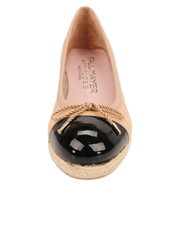 Womens Beige/Black Just Quilted Wedge Espadrille 4 Alternate View