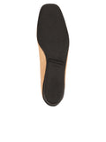 Womens Beige/Black Galant Square Toe Ballet 7