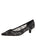 Womens Black Lace Royal Pointed Toe Kitten Heel