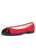Womens Black/Red Suede Bravo Lug Sole Ballet