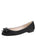 Womens Black Satin Bass Satin Ballet Flat