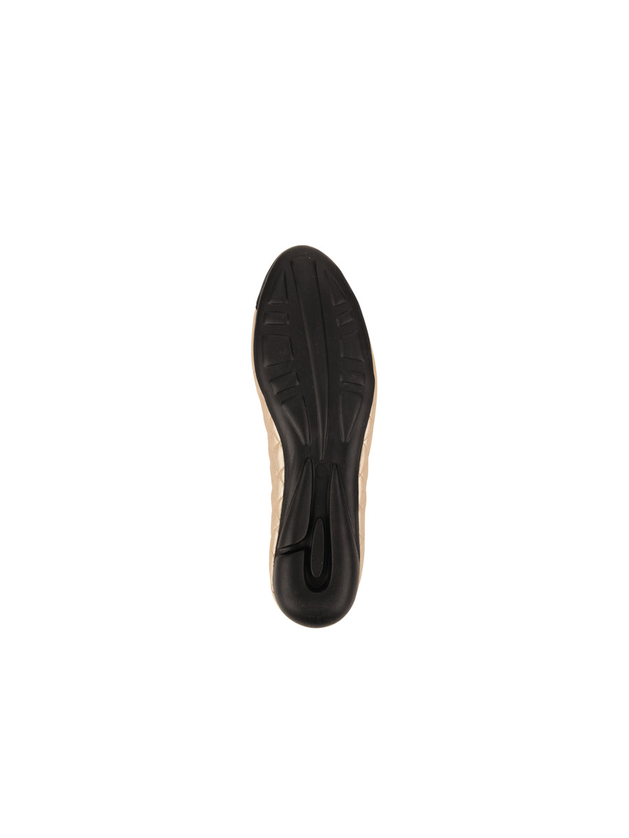 Womens Black/Sena Ceramic Best Quilted Leather Ballet Flat 7