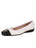 Womens Black/White Galant Square Toe Ballet