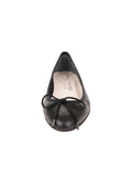 Womens Black Lido Quilted Leather Ballet Flat 4