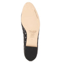 Womens Black Lido Quilted Leather Ballet Flat 7