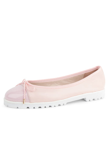 Womens Blush Pink Bravo Lug Sole Ballet